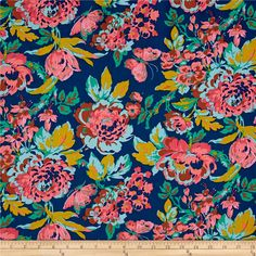 Jennifer Paganelli Color Brigade Gretchen Blue from @fabricdotcom Designed by Jennifer Paganelli for Free Spirit, this cotton print fabric is perfect for quilting, apparel and home decor accents. Colors include blue, teal, brown, pink, light blue and chartreuse.