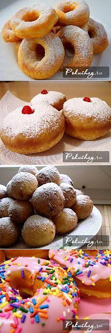 Готовим вкусные пончики на кефире | Домашняя выпечка