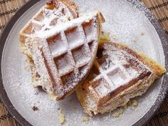 Buttery, flaky, Frangipane puff pastry waffles