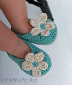 Crochet Baby Booties JENNIFER BAUMGARTNER if I have a girl I expect a pair of these from my dear ole pal ;)