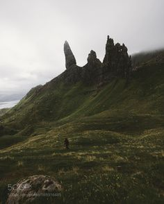 The Old Man of Storr really is a huge structure. In this picture it still is rather far away from... by regnumsaturni