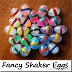 A simple way to make fancy DIY egg shakers for kids! Explore sound by filling with different objects! This is a great use for leftover plastic Easter Eggs! Preschool Music, Music Activities, Easter Activities, Activities For Kids, Crafts For Kids, Craft Kids, Toddler Crafts, Movement Activities, Homemade Musical Instruments