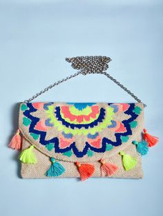 The Loom- An online Shop for Exclusive Handcrafted products comprising of Apparel, Sarees, Jewelry, Footwears & Home decor. Owl Canvas, Beaded Bags, Beautiful Hands, Loom, Bag Accessories, Wicker, Clutches, Purses And Bags, Shoulder Bag