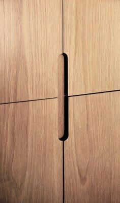 Handleless Cabinets Design Inspiration - The Architects .- Handleless Cabinets Design Inspiration – The Architects Diary Handleless Cabinets - Furniture Handles, Wood Furniture, Furniture Design, Furniture Outlet, Discount Furniture, Office Furniture, Cabinet Handles, Cabinet Doors, Door Handles