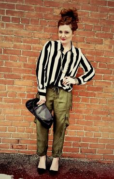 Style Forage rocking Joe Fresh cargo pants.