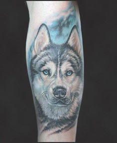 80 Siberian Husky Tattoo Designs For Men - Dog Ink Ideas #husky #siberian #tattoo #tattooideas #siberianhuskytattoo