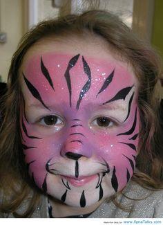 httpwwwapnatalkscompink tiger painting girl face paintingtiger paintingpainting facesface painting ideaspainting - Halloween Face Painting For Girls