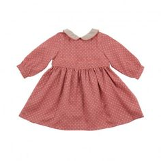 Isaure dots dress Coral  TROIZENFANTS