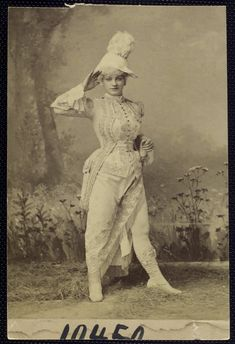 Costumes of Late 19th Century Theater via The New York Public Library