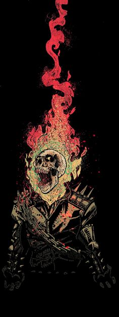 ✧ Marvel Comics : Ghost Rider on Behance Comic Book Characters, Comic Character, Comic Books Art, Comic Art, Marvel Art, Marvel Dc Comics, Marvel Heroes, Ghost Marvel, Avengers Art