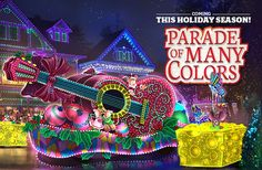 "Dollywood's new Parade of Many Colors will take place nightly beginning at 8 p.m. during the Smoky Mountain Christmas festival from November 5 - January 1. Dollywood states that the new parade will feature ""vibrant floats, interactive characters and a number of other surprises sure to inspire guests with its heart-warming message."" Dollywood has invested $2.5 million into this new parade to ensure that it will be an incredible addition to the popular Christmas festival."