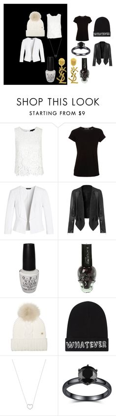 """""""zebra"""" by skyskyjr on Polyvore featuring Vince, White House Black Market, Yves Saint Laurent, OPI, Woolrich, Local Heroes, Tiffany & Co., women's clothing, women's fashion and women"""