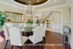 Tuscan Style Builder Home Staging traditional dining room