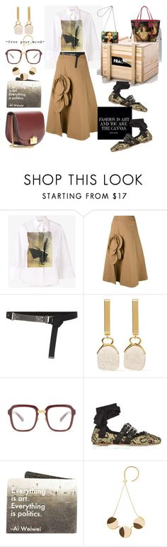 """""""Fashion&Art or Fashion art"""" by statuslusso ❤ liked on Polyvore featuring Marni, Louis Vuitton, MSGM, Yves Saint Laurent, Isabel Marant, Kaleos, Miu Miu and Victoria Beckham"""
