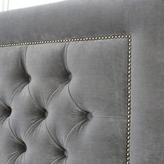 We love everything about our Chiswick headboard with sumptuous deep buttoning and elegant studding we guarantee this headboard will make an average bedroom look like a truly stylish retreat. Handmade in London and designed by our founders, this headboard Bed Headboard Design, Headboard Cover, Modern Headboard, Bedroom Bed Design, Headboards For Beds, Modern Bedroom, King Headboard, Studded Headboard, Leather Headboard