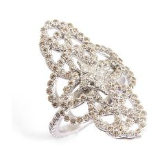 Women's Armenta New World Cravelli Eternity Diamond Ring (€1.120) ❤ liked on Polyvore featuring jewelry, rings, silver, champagne diamond ring, armenta, diamond rings, diamond jewellery and diamond jewelry