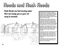 Here's a booklet for kids from the National Weather Service on floods and flood safety.