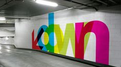 Colourful directional typo