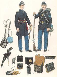 American Revolutionary War, American Civil War, Military Art, Military History, Army Uniform, Military Uniforms, Soldier Costume, Union Army, Western Union