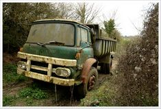 Vintage Trucks, Old Trucks, Abandoned Cars, Abandoned Vehicles, Bedford Truck, Vehicle Signage, Old Lorries, Classic Motors, Commercial Vehicle