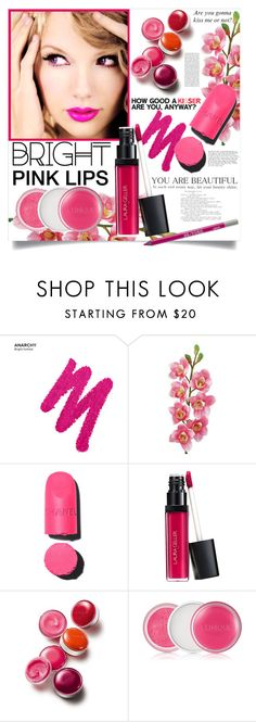 """Bright Pink Lipstick"" by danielle-broekhuizen ❤ liked on Polyvore featuring beauty, Urban Decay, Laura Cole, Chanel and Clinique"