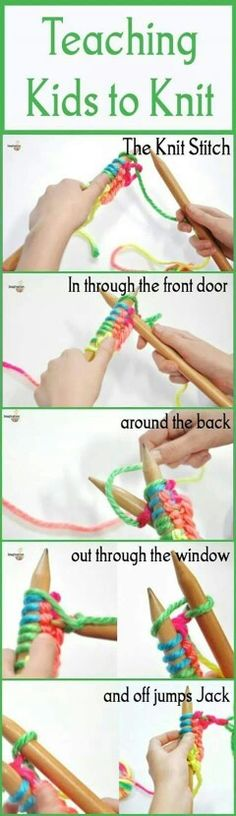 Teaching children to knit