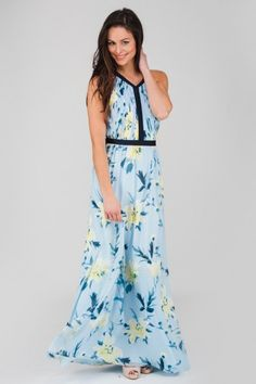 Get the jaw-dropping and downright sassy look this season with the assorted floral printed maxi dress. Featuring a fitted waist, cross back straps and a flat...
