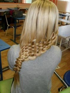 I would never even attempt this.  It would not work in my hair, and is crazy looking anyway.  But worth a pin for awesomeness.