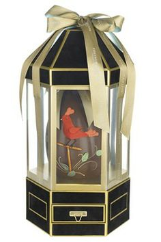 Lulu Guiness birdcage chocolate egg at fortnum and mason
