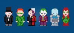 Batmans Enemies Cross Stitch PDF Pattern by pixelpowerdesign, $5.00