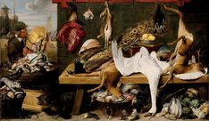 Market Scene on a Quay. circa 1635-1640. Frans Snyders and Workshop. Oil on canvas. 79 5/16 x 135 in. (201.5 x 342.9 cm). North Carolina Museum of Art via Google Cultural Institute.