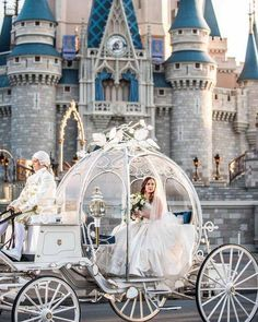 Disney wedding dresses, Disney world wedding, Disn Disney Wedding Rings, Disney World Wedding, Disney Wedding Dresses, Cinderella Wedding, Princess Wedding, Disney Weddings, Foto Fantasy, Wedding Carriage, Cinderella Carriage