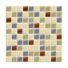 "Home Hardware - 6 Pack 9.875"" x 9.875"" Mosaik Idaho Peel and Stick Tiles"
