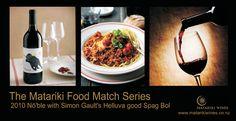 Simon Gault's Helluva Good Spag Bol with Matariki 2010 Nōble Wine, Food, Eten, Meals, Diet