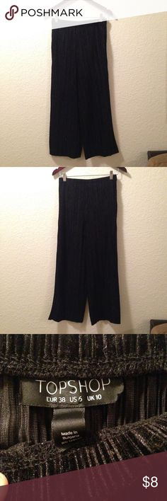 TOPSHOP Black Culottes Bottom Still in excellent condition! Bought it at the original retail price! Fabric is soft. Topshop Other