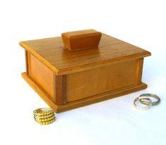 Vintage Hand Made Wood Box Danish Modern by OurModernHistory #woodenbox