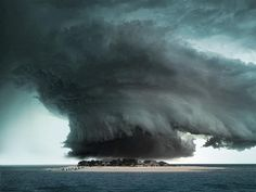 Supercell over tropical island