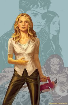 Cover for volume 1, season 9 of Buffy the Vampire by StevenJamesMorris on deviantART