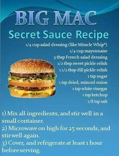 McDonalds special Big Mac sauce