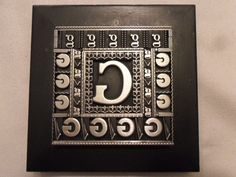 Graphic Design Old Letterpress Printing Metal Type G 's Francy Ornaments Border