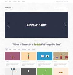 XOO Plate :: WordPress Portfolio Theme Webpage PSD - Portfolic - a WordPress portfolio theme webpage layout - simple clean and attractive - PSD.
