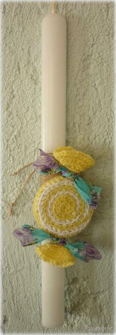 Handmade Greek easter candle from xeirotexnes.gr Χειροποίητες λαμπάδες από Έλληνες χειροτέχνες Περισσότερες http://xeirotexnes.gr/category/epoxiaka/epoxiaka-pasxa/epoxiaka-pasxa-lampada