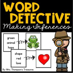 Practice making inferences and thinking critically with these fun activities! Students will read the three-word clues, then match the picture that the clues describe. Includes 5 colorful pages of cards that can be used as a center activity and 5 black and white pages that can be used as individual a...