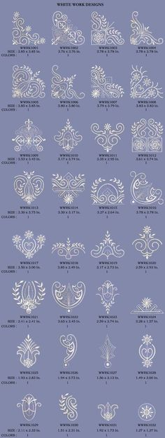 Decorative White Motif - Machine Embroidery Design by Embroidery Emotions, via Behance