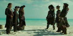 °~ Will Turner, Lord Cutler Beckett, Davy Jones, Captain Hector Barbossa, Jack, Pirate King Elizabeth & Captain Jack Sparrow