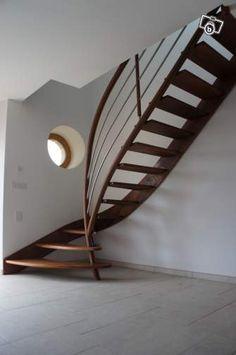 Escalier design métal et bois Bricolage Ille-et-Vilaine - leboncoin.fr (Staircase Step Design)