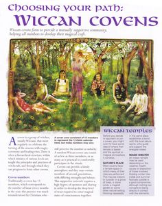 Book of Shadows:  #BOS Choosing Your Path: Wiccan Covens page.