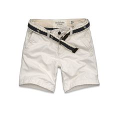 White shorts, Abercrombie & Fitch. #menswear