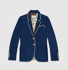 Gucci- silk-wool jacket