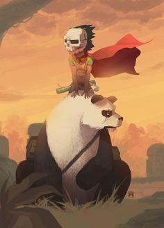 Guerreiro.Panda. Garoto urso